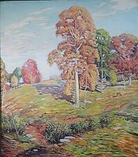 LISTED WHITE HOUSE + SMITHSONIAN ARTIST SIGNED EDWARD C. KUHN LANDSCAPE PAINTING