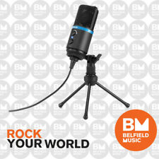 IK Multimedia iRig MIC Studio Black Large Diaphragm Condenser Microphone Portabl