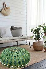 Indian Floor Cover Mandala Pillow Cushion Round Bohemian Throw Pouf Large Pillow