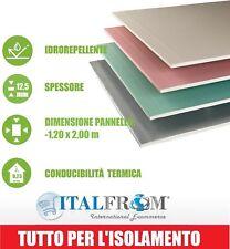 Pannello Cartongesso AQUA 1,20x2,00 m -Spessore 12,5 mm Idrorepellente Antimuffa