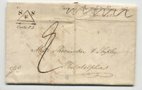 1837 stampless Sheffield england to Philadelphia [H.581]