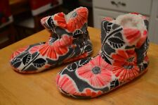 Vera Bradley slipper booties Fleece size medium 7-  8 womens
