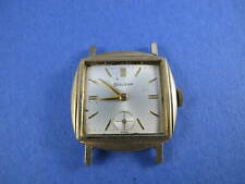 BULOVA 1965 MENS GOLD PLATED WATCH SMALL SECONDS RUNS TO RESTORE