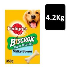 Pedigree Biscrok Milky Biscuits Dog Treats 350 G Pack of 12