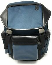 BRAND NEW COACH F24677 TERRAIN TREK PACK BLUE NYLON & LEATHER BACKPACK