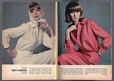 1964 TV FASHION ARTICLE~SUZY PARKER~CHANEL OF PARIS & ELLEN BROOKE COUTURE