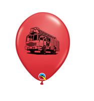 Party Supplies Happy Birthday Boys Fireman Fire Truck 28cm Latex Balloons pk 10