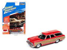 Johnny Lightning 1/64 1973 Chevrolet Caprice Estate Wagon Diecast Red JLCP7002