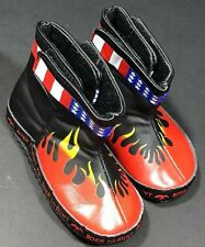 Baby Shoes Boys Size 5 Boots Born To Hunt Black Red Flames American Flag Detail