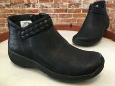 Merrell Black Leather Slip-on Encore Braided Bluff Ankle Boots 6 36 New Sale