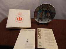"Bing & Grondahl ""Kunstens Trange vej"" Collector Plate w/ Coa; Box & Inserts 1984"
