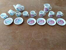 2x G2 dinette Porcelaine petit poney Tea party My little pony kleines porcelain
