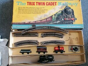 TRIX Twin Cadet Railway Set Inc. Locos, Carriages Etc OO Gauge boxed
