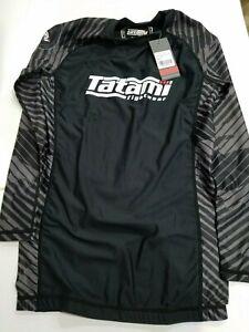 New Tatami Renegade Urban Grey Camo MMA BJJ Jiu Jitsu Long Sleeve LS Rashguard