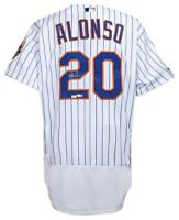 PETE ALONSO Autographed New York Mets White Authentic Flexbase Jersey FANATICS
