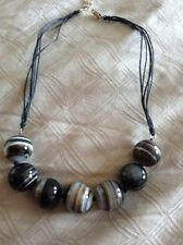 Qvc Agate Necklace In 925 Silver - New