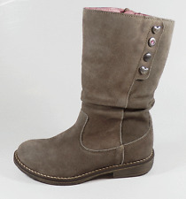 Noel Girls Flip Taupe Suede Zip Boots UK 9  EUR 27 US 9.5 RRP £65.00