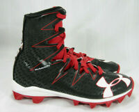 UNDER ARMOUR BLACK RED BOYS 3Y HIGH TOP FOOTBALL YOUTH CLEATS CLUTCH FIT