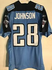 Reebok Premier NFL Jersey Tennessee Titans Chris Johnson Light Blue sz M