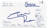 Charlie Rowe Signed 3x5 Index Card Autographed Signature The Golden Compass