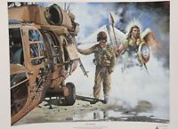 Jim Davis Army Helicopter Pilot & Guardian Angel Print 24 x 30 Signed/Numbered