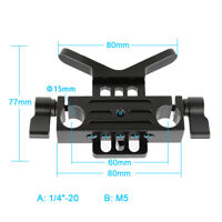 CAMVATE Lens Support Bracket 15mm Rod Clamp Clip Rail Block Rig for DSLR Camera