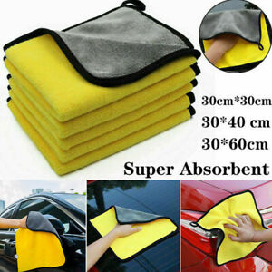 Car Wash Microfiber Towel Auto Cleaning Drying Cloth Hemming Super Absorbent AU