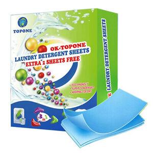 62PCS New Formula Laundry Detergent Sheets Wash Laundry Washing Powders CleaU.jy