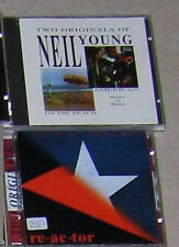 Neil Young 4 albums 2cd on the Beach American Stars 'n' bars Hawks & Doves Reactor