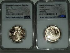 2019 P & D American Innovation - Georgia Dollar NGC MS-66 & 66 PL $1 coin