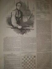 William Thom a mano con telaio Weaver e poeta di inverury 1845 stampa ref D