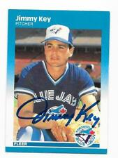 JIMMY KEY 1987 FLEER AUTOGRAPHED SIGNED # 232 BLUE JAYS