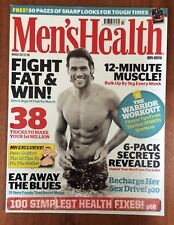 Men's Health March 2011 mag only - Manu Bennett + Fight Fat & Win ++