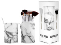 BEAU BELLE 10 PROFESSIONAL COSMETIC BRUSH SET Marble Make-up Pot (RRP £49.95)