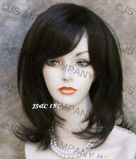 STUNNING Dark Brown Medium Length teased top Salon cut wig WBKE 4