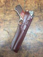 """Brown Leather Holster Ruger MK Mark I II III IV with 6 7/8"""" inch barrel  #9260"""