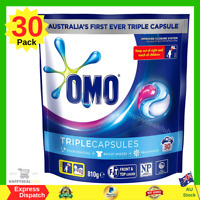 Omo Laundry Liquid Triple Capsules Front and Top Loader Active 30 pack NEW AU