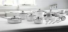 Mainstays 18-Piece Pots And Pans Stainless Steel Cookware Set