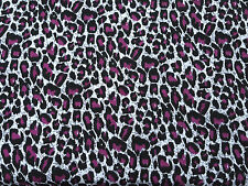 Cotton Modal Spandex Purple Cheetah Print #18 Fabric Jersey Knit by yard 8/16