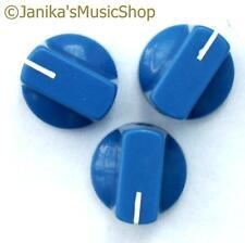 Perillas Potenciómetro Interruptor Azul 3 Amplificador De Guitarra etc. Estufa Olla Tornillo de perilla +