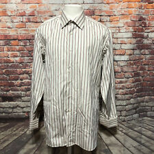 IKE BEHAR MEN'S COTTON LONG SLEEVE DRESS SHIRT SIZE 16 34 A04-15