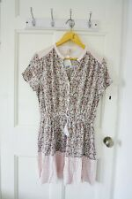 H&M Patterned Floral Dress, Size 14, V-shaped Crinkled Tasselled, New With Tag