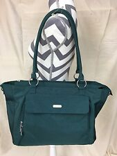 Baggallini Large Laptop Tote Travel Bag, Green Organizer