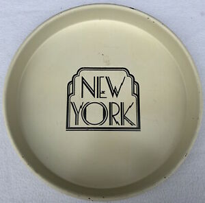"""Vintage NEW YORK Collectible 12"""" Metal Serving Tray"""