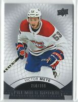 2017-18 Upper Deck Premier Victor Mete Canadiens RC /399