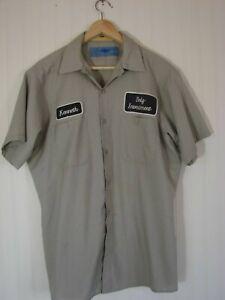 nashville pussy mechanic shirt button up garage rock nine pound hammer LARGE