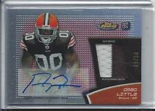 1/1 GREG LITTLE 2011 FINEST RED REFRACTOR RPA PATCH AUTO RC #D 15/50 (15 JSY #)