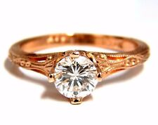 Già Certificato .95ct F.Si1 Rotondo Naturale Anello Diamante Portoghese Revival