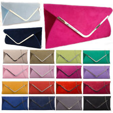 LeahWard Women's Faux Suede Flap Clutch Wedding Bag Evening Handbags 320