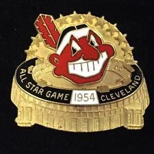 1954 Cleveland Indians All Star Game MLB Baseball Press Media Pin by Balfour NIB